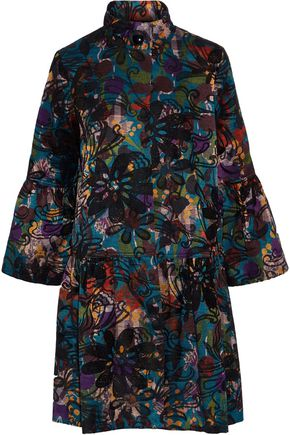 ANNA SUI Cotton-blend jacquard coat