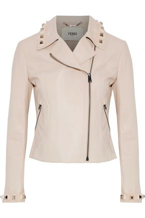 FENDI Sttudded leather biker jacket