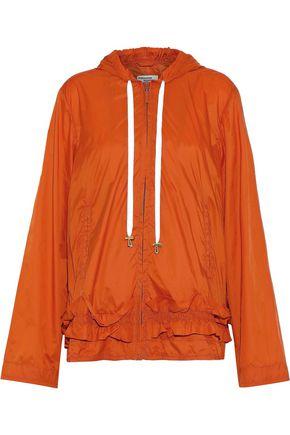 BAUM UND PFERDGARTEN Blaise ruffle-trimmed shell hooded jacket