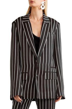 HAIDER ACKERMANN Striped satin blazer