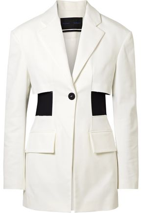 PROENZA SCHOULER Stretch knit-paneled cotton-blend twill blazer
