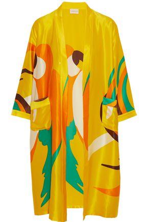 SIMON MILLER Owosso printed silk-satin kimono