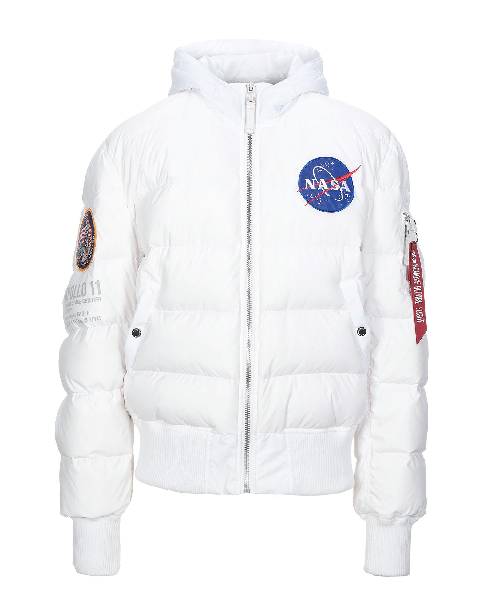 《セール開催中》ALPHA INDUSTRIES メンズ ダウンジャケット ホワイト XL ナイロン 100%