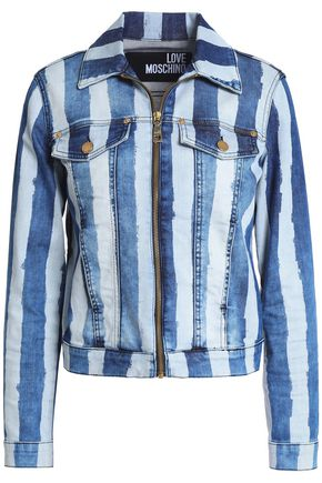 LOVE MOSCHINO Striped denim jacket