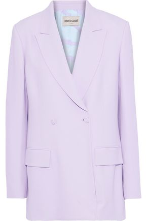 ROBERTO CAVALLI Oversized double-breasted crepe blazer