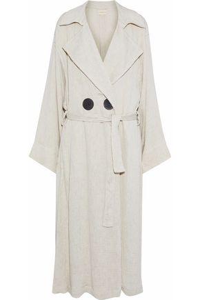 SIMON MILLER Casco oversized matelassé trench coat