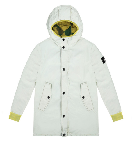 STONE ISLAND JUNIOR Mid-length jacket 41336 GARMENT DYED PLATED REFLECTIVE_REVERSIBILE