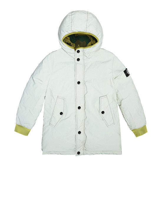 STONE ISLAND KIDS Mid-length jacket 41336 GARMENT DYED PLATED REFLECTIVE_REVERSIBLE