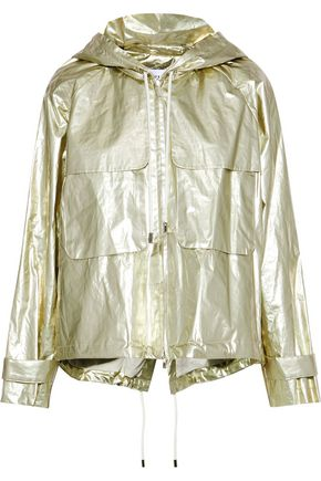 DEREK LAM 10 CROSBY Metallic shell hooded jacket