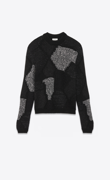 Lurex sweater in a geometric jacquard