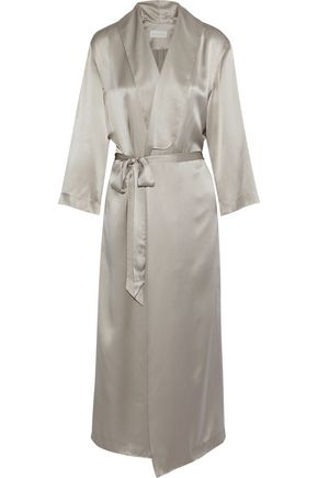 MICHELLE MASON Smoking silk-satin robe