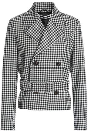 McQ Alexander McQueen Double-breasted checked wool-twill jacket
