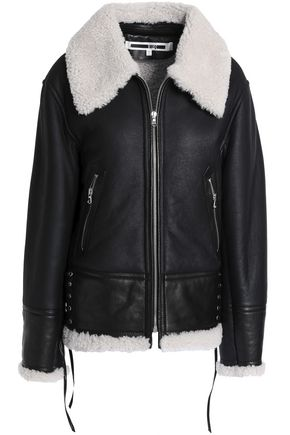 McQ Alexander McQueen Lace-up shearling jacket