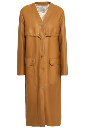 YVES SALOMON Leather coat