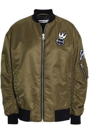 McQ Alexander McQueen Appliquéd shell bomber jacket