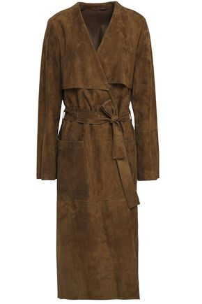 YVES SALOMON Origan suede trench coat