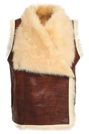 METEO by YVES SALOMON Reversible shearling gilet