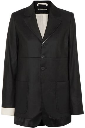 ANN DEMEULEMEESTER Linen-blend twill blazer