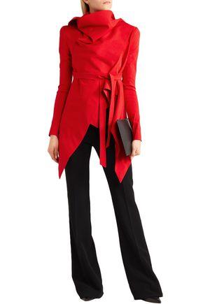 09372e40de8b34 GARETH PUGH Asymmetric draped shantung blazer