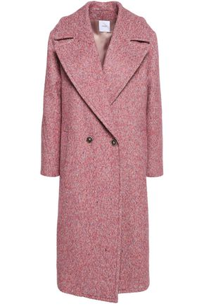 AGNONA Double-breasted mélange felt coat