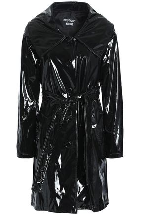 BOUTIQUE MOSCHINO Faux patent-leather trench coat