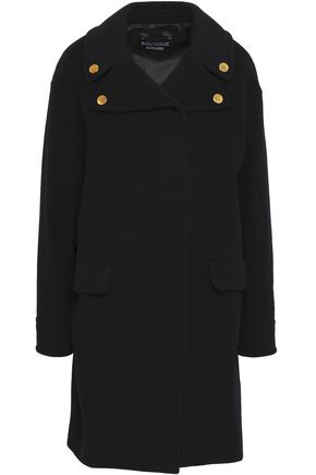 BOUTIQUE MOSCHINO Button-embellished wool and cashmere-blend coat
