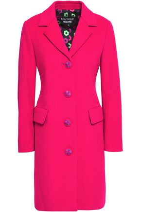 BOUTIQUE MOSCHINO Button-detailed wool and cashmere-blend felt coat