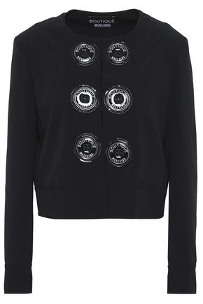 BOUTIQUE MOSCHINO Button-detailed crepe jacket