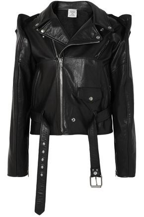 VETEMENTS Convertible leather biker jacket