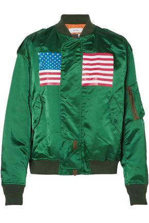 FACETASM Printed satin bomber jacket