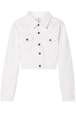 TRE by NATALIE RATABESI Editor cropped zip-embellished denim jacket