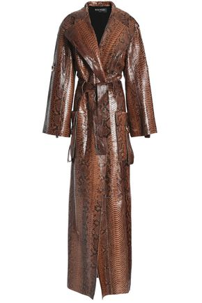 BALMAIN Python trench coat