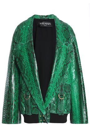 BALMAIN Python jacket
