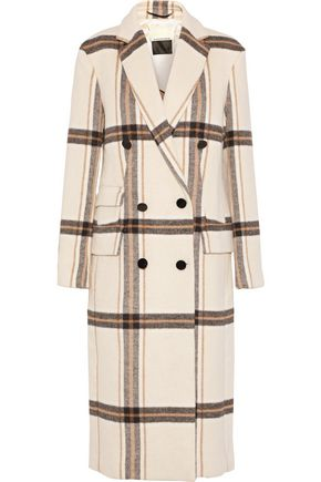 BY MALENE BIRGER Gritt double-breasted checked brushed-felt coat
