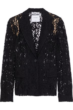 MOSCHINO Corded lace blazer