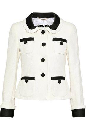 MOSCHINO Cotton-blend bouclé jacket