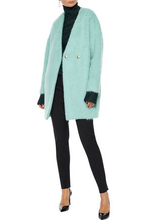 MILLY Helen alpaca and wool-blend coat