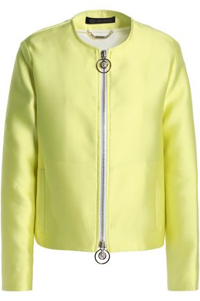 VERSACE Zip-detailed duchesse satin jacket