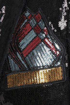 MARCO DE VINCENZO Sequined tulle blazer