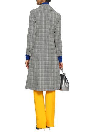 MARCO DE VINCENZO Appliquéd checked cotton-blend coat