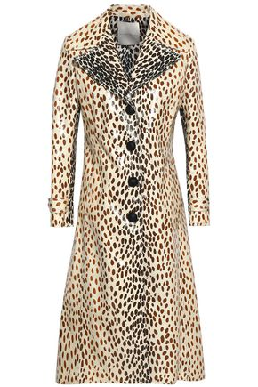 MARCO DE VINCENZO Coated printed cotton-blend coat