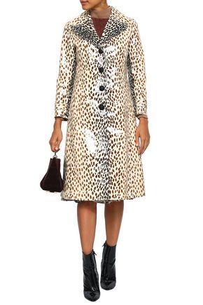 MARCO DE VINCENZO Coated printed cotton-blend coat