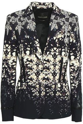 ROBERTO CAVALLI Printed stretch-crepe blazer