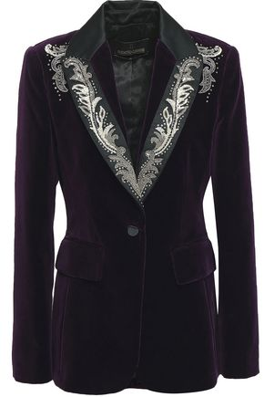 ROBERTO CAVALLI Velvet blazer