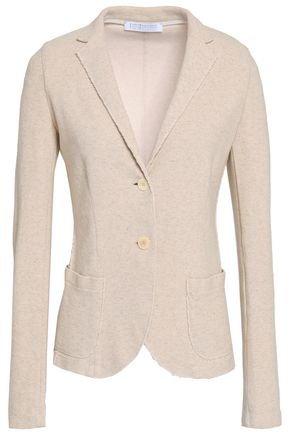 HARRIS WHARF LONDON Frayed cotton and linen-blend blazer