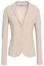 HARRIS WHARF LONDON Frayed cotton and linen-blend blazer