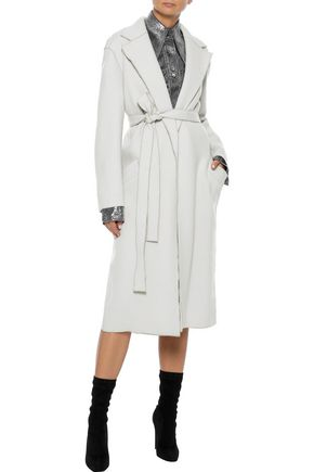 AMANDA WAKELEY Belted wool-felt coat