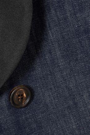 BRUNELLO CUCINELLI Satin-trimmed denim blazer