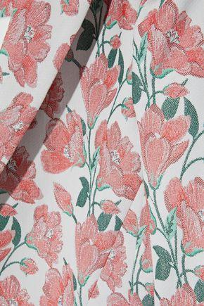 ALICE + OLIVIA Macey cotton-blend brocade blazer