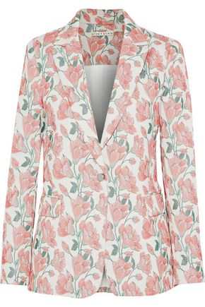 ALICE + OLIVIA Macey cotton-blend brocade blazer